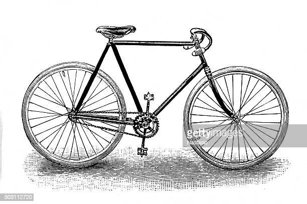 racing bicycle - bicycle stock illustrations