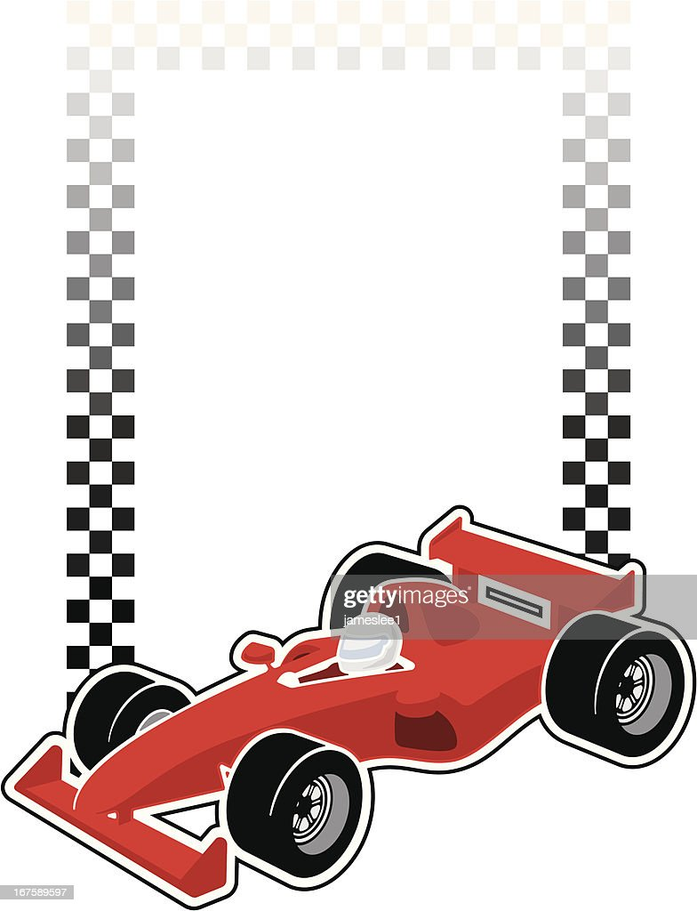 Racing Car Frame Vector Art | Getty Images