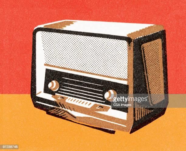 ilustraciones, imágenes clip art, dibujos animados e iconos de stock de radio - siglo xx
