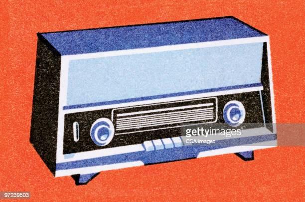 radio - old fashioned stock illustrations