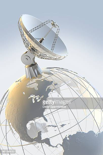 radio telescope on top of a globe with - number of people stock illustrations, clip art, cartoons, & icons