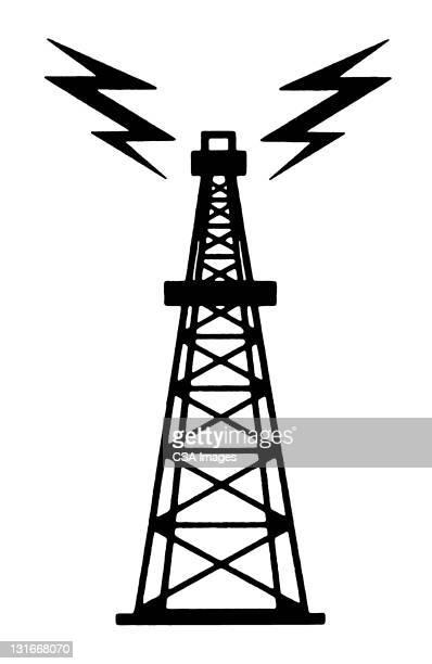 radio tower - computer icon stock illustrations