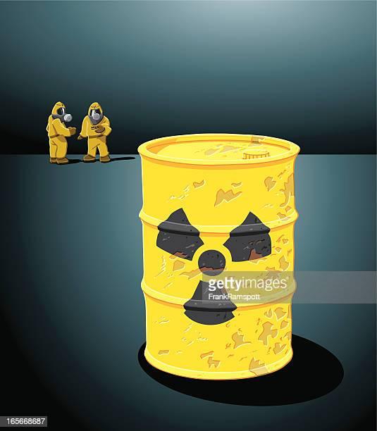 ilustrações, clipart, desenhos animados e ícones de resíduos radioactivos - vestuário de proteção