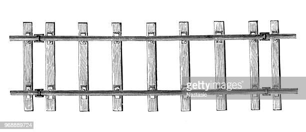 railroad track - railroad track stock illustrations