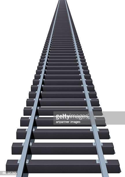 Rails or Tracks on white background
