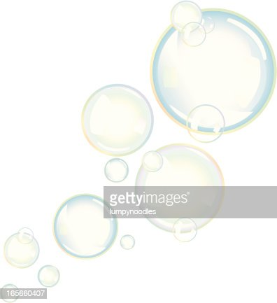 Rainbow Bubbles stock illustration - Getty Images