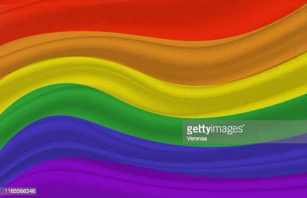 レインボーゲイプライドフラグ - ゲイ・パレード点のイラスト素材/クリップアート素材/マンガ素材/アイコン素材