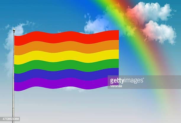 レインボーゲイプライド国旗 - ゲイ・パレード点のイラスト素材/クリップアート素材/マンガ素材/アイコン素材