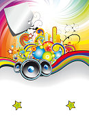 Rainbow Music Event Flyer