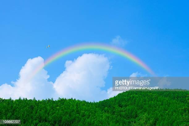 Rainbow over the mountain,