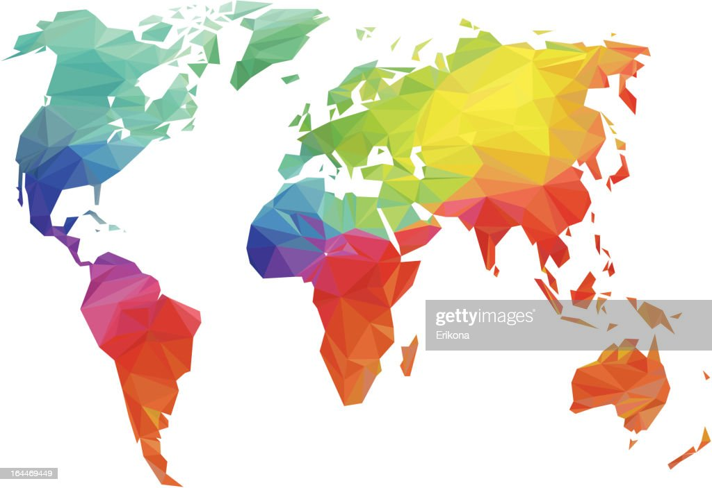 Rainbow World Map Vector Art Getty Images