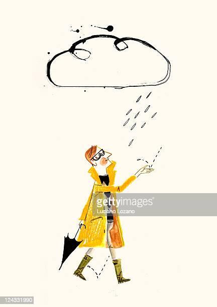 rainy season - rain stock illustrations