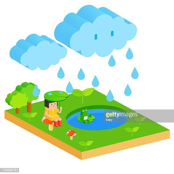 rainy season - monsoon stock illustrations, clip art, cartoons, & icons