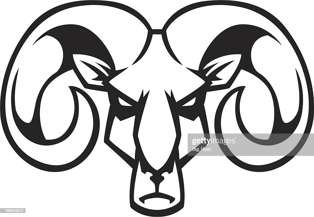 Rams Head Vector Art Getty Images