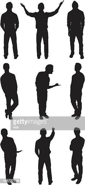 random man poses - gesturing stock illustrations, clip art, cartoons, & icons