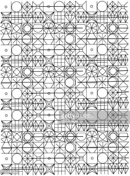 random shape pattern - image stock illustrations