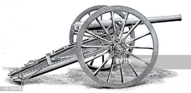 rapid fire - field gun - rapid stock illustrations