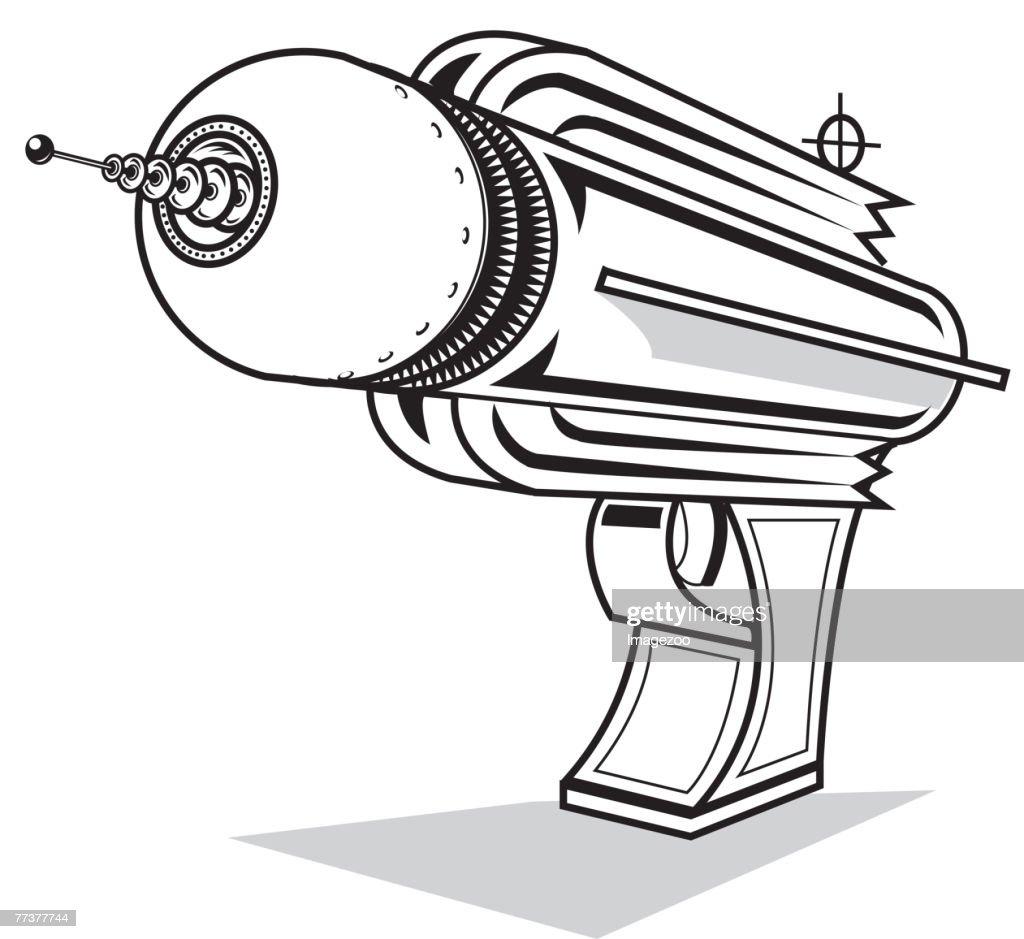 ray gun b&w : Illustration