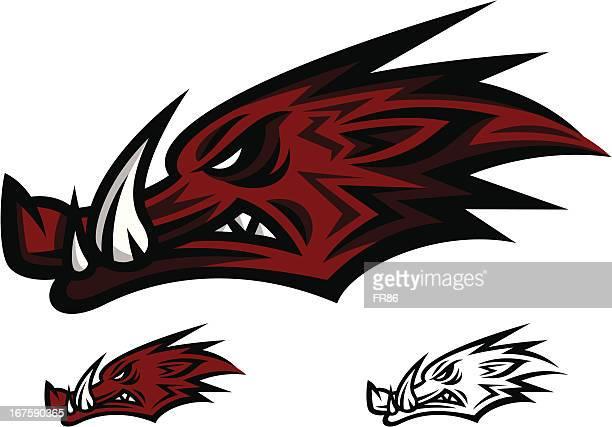 Mascot logotipo Razorback