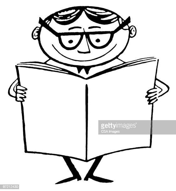 ilustrações, clipart, desenhos animados e ícones de reading - livro didático