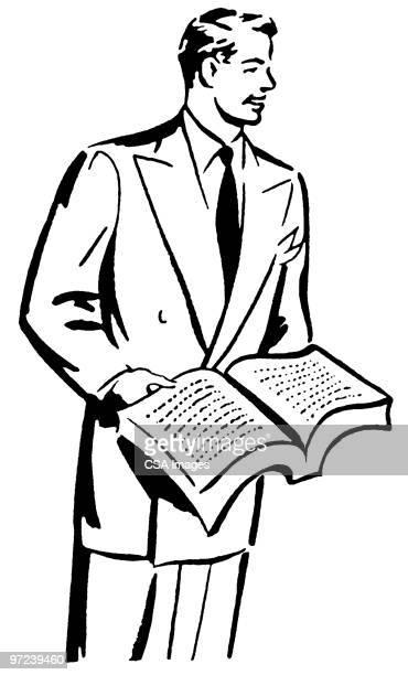 reading - セールスマン点のイラスト素材/クリップアート素材/マンガ素材/アイコン素材