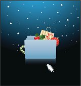 ready for christmas- mac OS X folder  - vector
