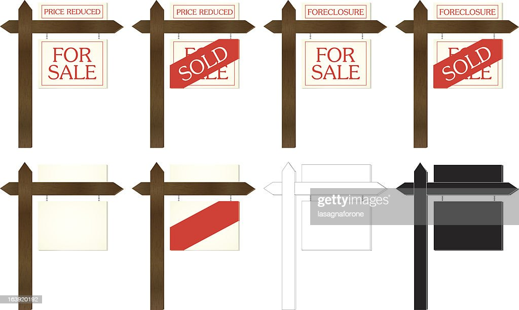 Real Estate Signs : stock illustration