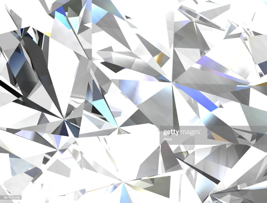 Realistic Diamond Texture Close Up 3d Illustration High-Res Vector Graphic - Getty Images