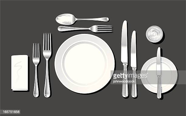 Realistic place setting