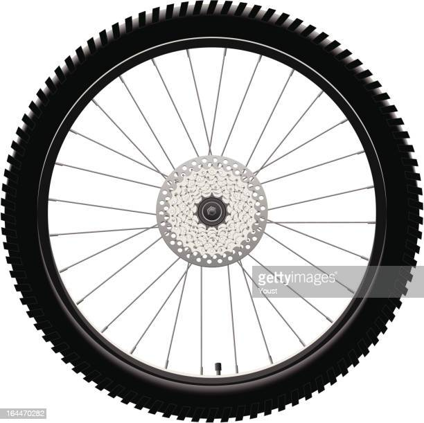 rear bicycle wheel - air valve stock illustrations, clip art, cartoons, & icons