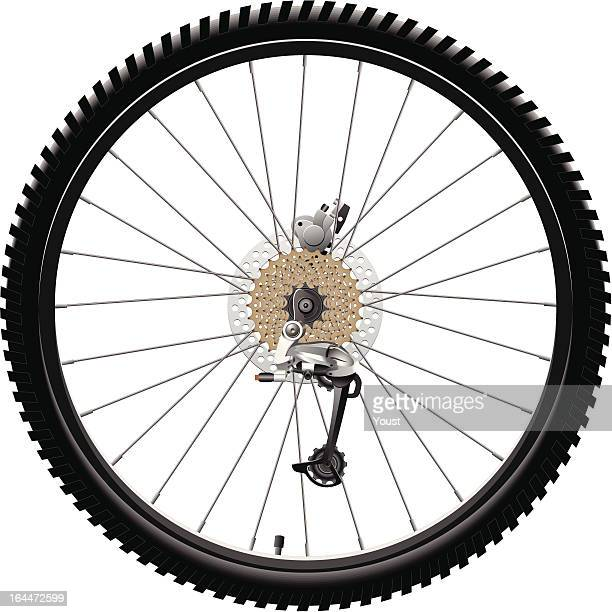 rear bicycle wheel - derailleur gear stock illustrations, clip art, cartoons, & icons