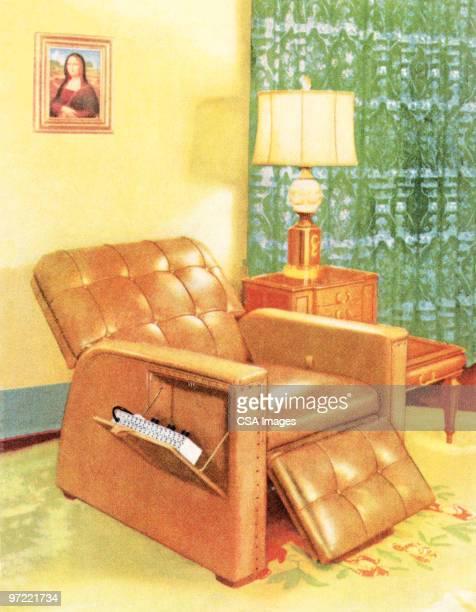 recliner - image stock illustrations