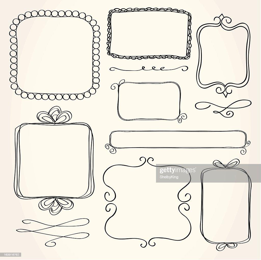 Rectangle Doodle Frames
