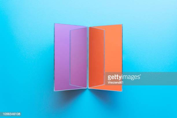 rectangle shaped mirrors on blue background - mirror object stock illustrations