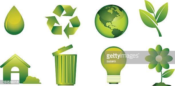 リサイクルアイコンベクトルクリップアート - 水の無駄遣い点のイラスト素材/クリップアート素材/マンガ素材/アイコン素材