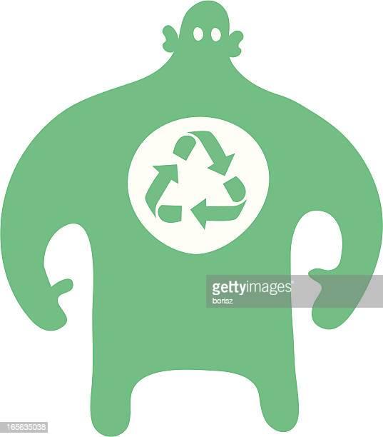 ilustrações de stock, clip art, desenhos animados e ícones de reciclagem - gari