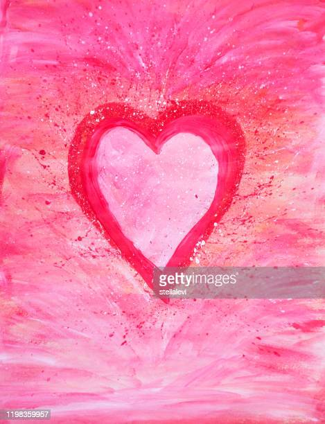 red and pink heart - stellalevi stock illustrations