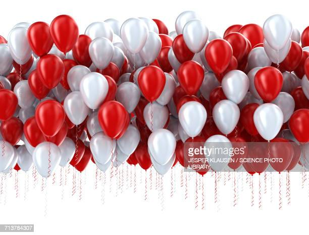 illustrations, cliparts, dessins animés et icônes de red and white balloons - ballon de baudruche