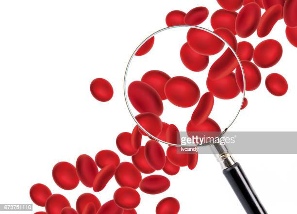 red blood cells - magnification stock illustrations