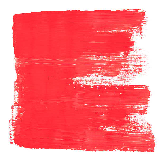 Red Brush Painted Frame Texture