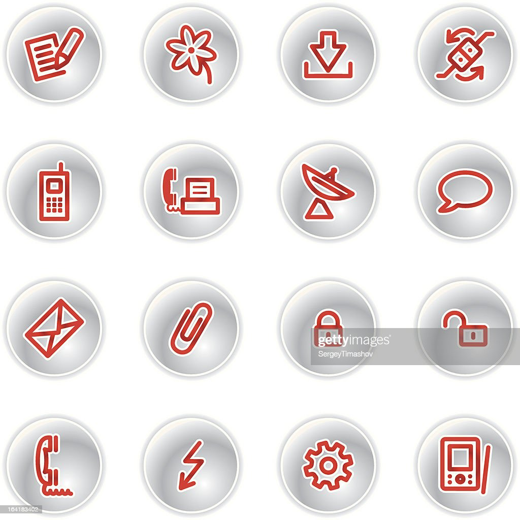 red communication icons