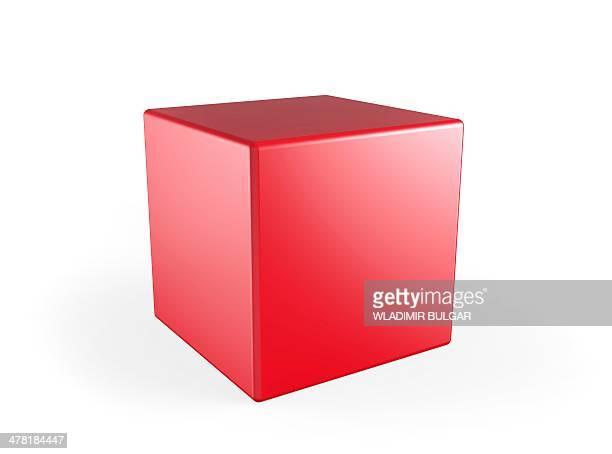 Red cube, artwork