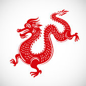 Red dragon - Chinese New Year