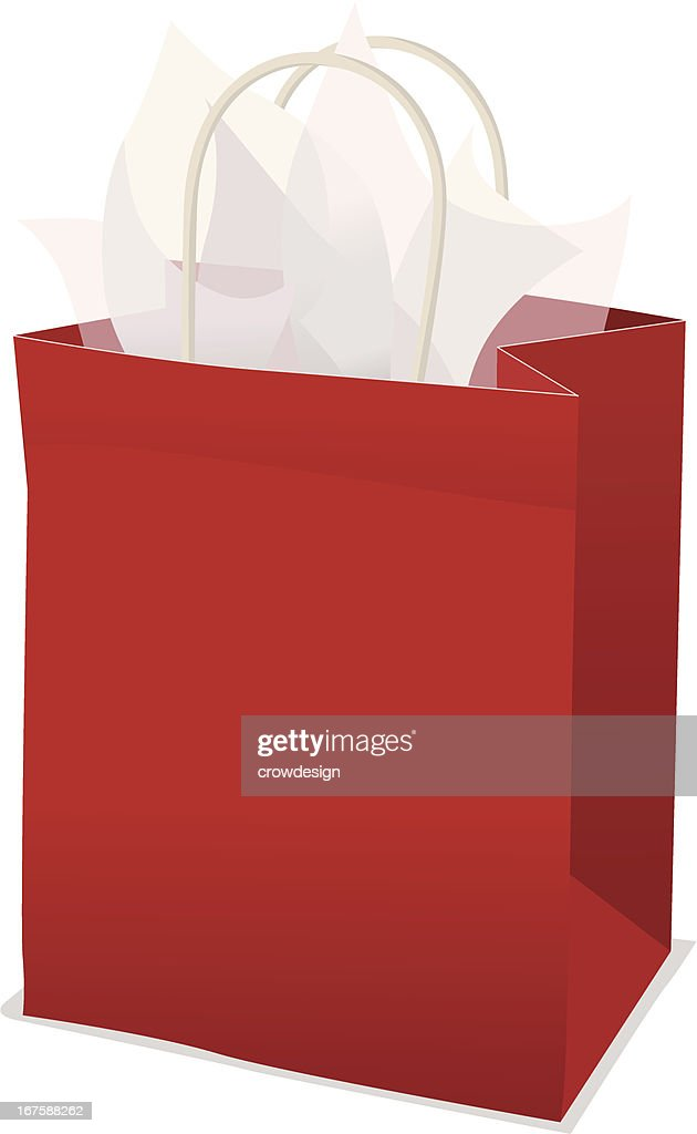 Red Gift Bag With Tissue Paper