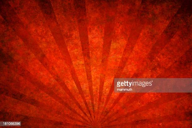 red grunge texture with sunrays - run down stock illustrations, clip art, cartoons, & icons