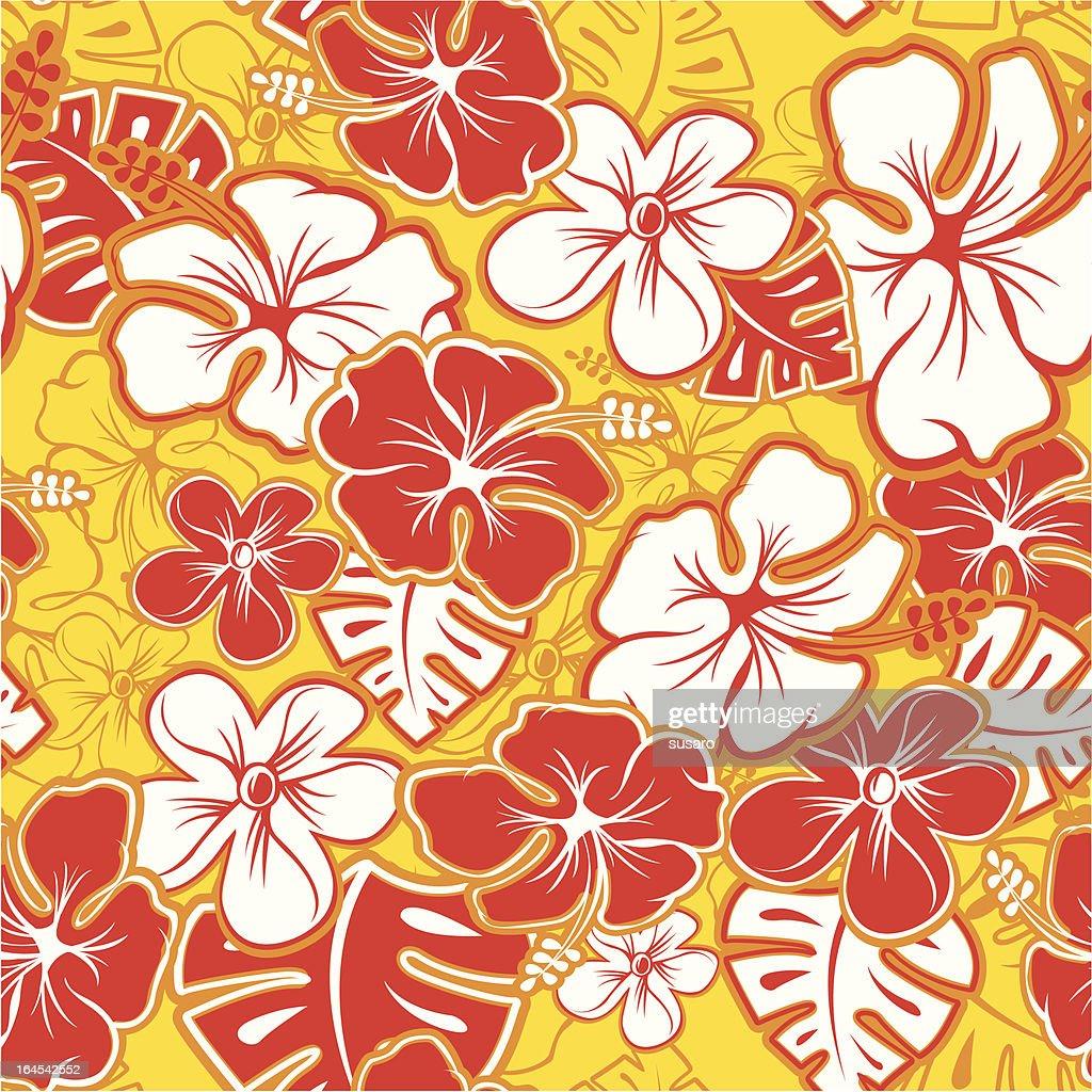 Red Hawaiian Pattern