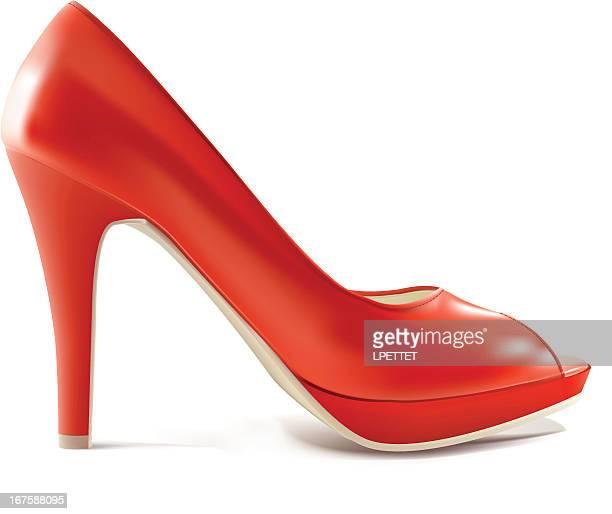 Red High Heel - Vector Illustration