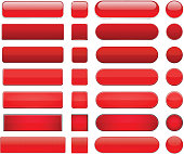Red high-detailed modern web buttons.