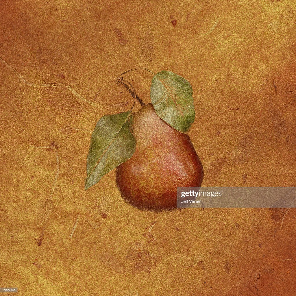 Red Pear : Stock Illustration