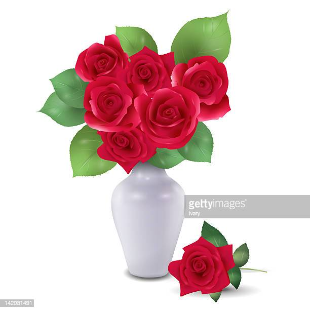 Roses In Vase Stock Illustrations And Cartoons Getty Images